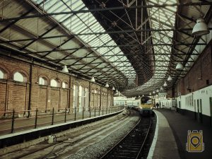 Avoid Vacation Trouble: A train station along England's National Rail system.