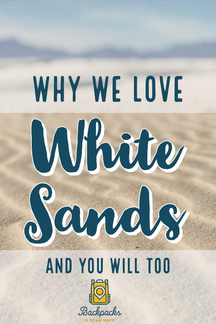 White Sands is the largest gypsum sand dunes in the world. Here\'s why we love it and why you will too! #whitesandsnationalmonument #whitesands #whitesandstraveltips #traveldestination